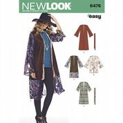 6476 New Look Pattern: Misses' Draped Shirt with Tie Belt